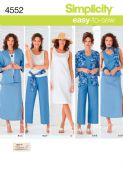 4552 Simplicity Pattern: Misses' and Plus Size Separates with Kimono Jacket, Skirt, Dress, Trousers, Top